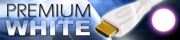 Premium White HDMI Cables