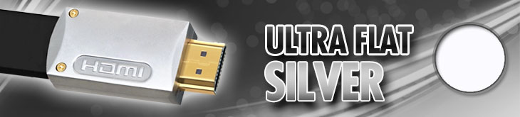 Ultra Flat Silver Cables