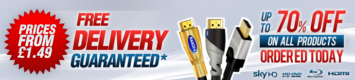 HDMI Cable banner Free Next day Delivery, Up to 70% OFF