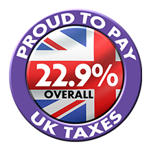 We pay uk taxes
