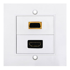HDMI High Speed With Ethernat Wall Plate 1xHDMI F/F+1xVGA F/F (WS3)
