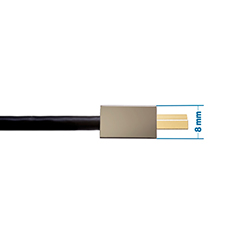 1.5m HDMI 2.0 Cable - Smallest Head SUPREME PIANO BLACK 'In The World' (2SH1.5PBLK)