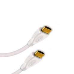 2.5m HDMI Cable, compatible with PS3 - Premium White HDMI Cable (WH2.5)
