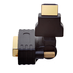 HDMI Male to DVI Male 360° Rotate & Swivel Adapter (AD10)