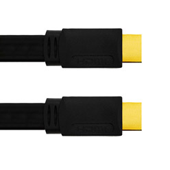 1m HDMI Cable, compatible with 3D - Premium Flat HDMI Cable