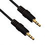 6m Premium 3.5mm to 3.5mm Black Audio Cable (PA6BLK)