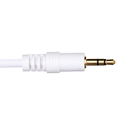 2.5m Premium 3.5mm to 3.5mm White Audio Cable (PA2.5WHT)