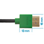 2m HDMI Cable - Smallest Head SUPREME GREEN 'In The World' (SH2GRN)