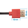 2.5m HDMI Cable - Smallest Head SUPREME RED 'In The World' (SH2.5RED)