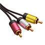 1.5m Ultimate Platinum 3 RCA to 3 RCA Cables  (UP3R1.5)
