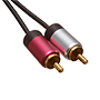 2.5m Ultimate Platinum 3.5mm  Audio to 2 RCA Cables (UPA2R2.5)