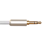 2.5m Ultimate Platinum 3.5mm to 3.5mm White Audio Cable
